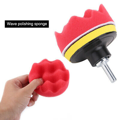 "12* 3""Sponge Buffing Polishing Pad Kit for Car Polisher with Drill Adapter"