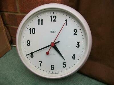 VINTAGE MID CENTURY SMITHS SECTRIC BAKELITE WALL CLOCK -Working-