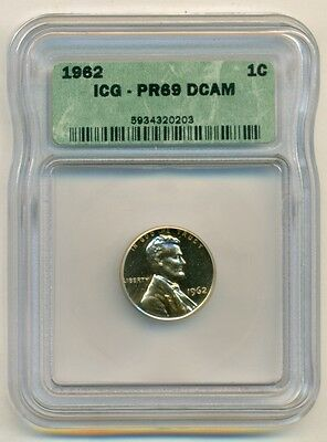 1962 Lincoln Memorial Cent Proof PR69 DCAM ICG