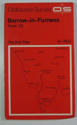 1965 Vintage OS Ordnance Survey Seventh Series One-Inch Map 88 Barrow-in-Furness