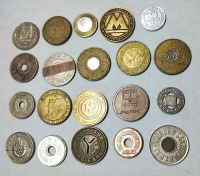 20 different transport tokens from around the world