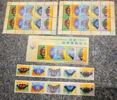 35 MUH Butterfly 45c stamps from 1990's around the world