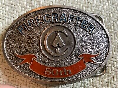 Firecrafter 80th Anniversary Belt Buckle (2000) Limited Edition Brand New!