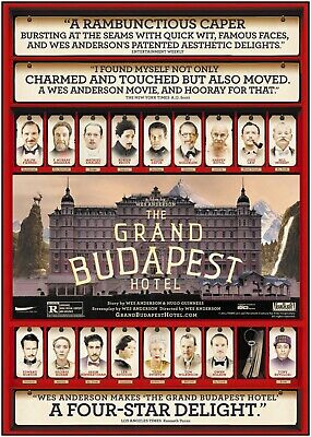 The Grand Budapest Hotel 2014 Movie Poster Print A0-A1-A2-A3-A4-A5-A6-MAXI 949