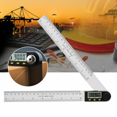 PVC 0-200mm Digital Angle Finder Protractor Goniometer Electronic Gauge Ruler
