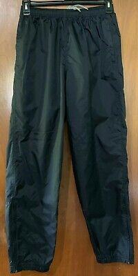 Vintage Nike Men's Pants Black Athletic Track Wind Unlined Nylon Sz L
