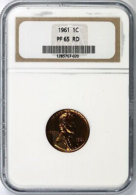 1961 Lincoln Memorial Cent 1c NGC PF65 RD