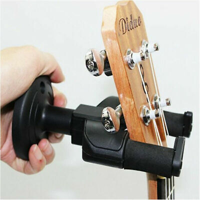 Guitare Support Mural Suspension Noir Crochet pour Ukulele Basse