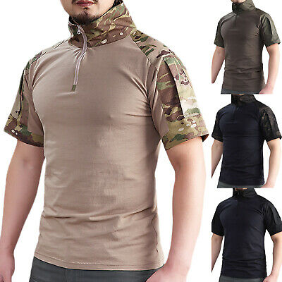 Men's Tactical Short Sleeve Combat Hunting Military Outdoor T-Shirt Tops Blouse