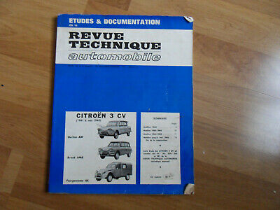 RTA REVUE TECHNIQUE AUTOMOBILE CITROEN 3CV 1961 a 1968