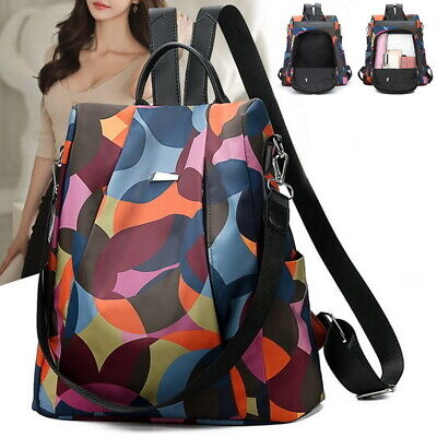 Hot Women Anti-Theft Waterproof Oxford Cloth Backpack Purse Rucksack School Bag