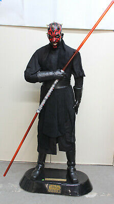 Darth Maul w/ Lightsaber Star Wars Full Life Size Statue Display Promo by Pepsi