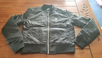 240a1aaaa NEW RARE GUESS Bomber Jacket Quilted Fashion Design Zip Color Black ...