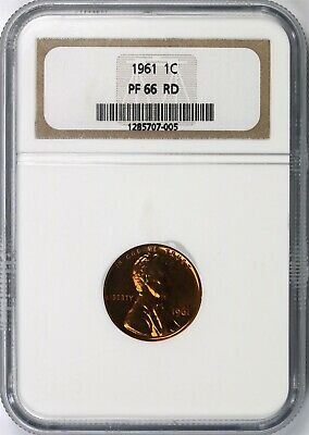 1961 Lincoln Memorial Cent 1c NGC PF66 RD