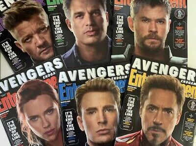 Avengers: End Game Entertainment Weekly April 2019 Complete 6 Cover Set