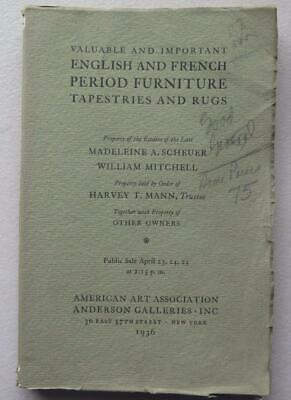 Madeline A Scheuer & Others Estate Auction Catalog AAA Anderson Galleries 1936