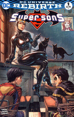SUPER SONS #1 Tyler Kirkham Variant DC Rebirth NM 1st print Bagged & Boarded