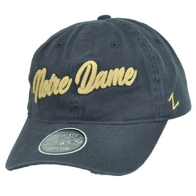 official photos 1cbd1 62ade NCAA Zephyr Notre Dame Fighting Irish Navy Blue Hat Cap Relaxed Slouch  Adjustab