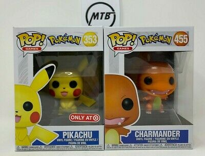 FUNKO POP GAMES POKEMON PIKACHU CHARMANDER 353 455 center day lucky bulbasaur
