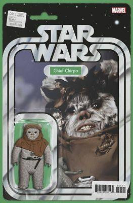 Star Wars #51 (2018) Chief Chirpa Action Figure Variant, Christopher, Marvel, Nm