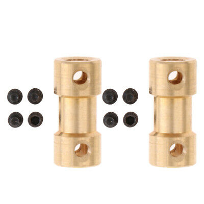 2xBrass Flexible Shaft Coupling Joint Motor Coupler Connector VARIOUS SIZE