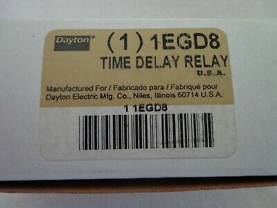 Dayton 1EGD8 Time Delay Relay 120 VAC Time 1.2 to 120 Seconds