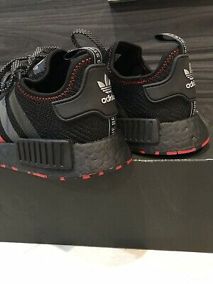 new concept 657f2 5648e Adidas NMD R1 Black Red Marble Japan Size 9 Yeezy Ultra Boost Kanye Shoe  Palace