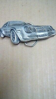 Chevy Camaro Z28 1979 Vintage Belt Buckle Indiana Metal Craft Dated