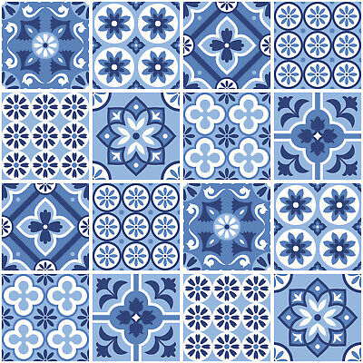 Flooring & Tiles Orange Decorative tile pattern Vinyl Sticker Transfer 6 inch and 4 inch m6 DIY Materials