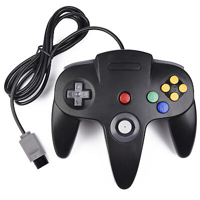 N64 Controller Joystick Gamepad for Classic N64 64 Console Video Games Black