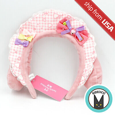 Japan Sanrio Puroland Exclusive My Melody Pink Heart Plush Cosplay Headband Hat