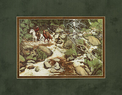 Bev Doolittle The Forest has eyes Double Matted print fits standard 11x14 frame