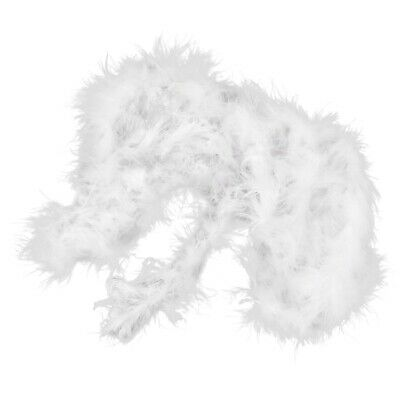 6 ft Marabou Feather Boa for Diva Night Tea Party Wedding - White G5M7