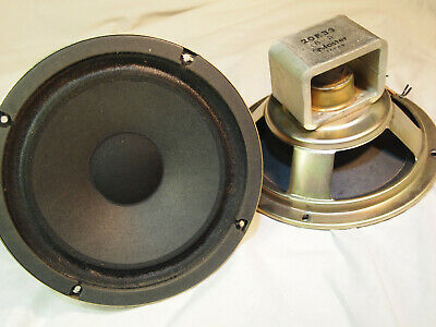 "Vintage Foster Fostex 8"" Woofer Speaker Alnico 20E33 8 Ohm Japan Pair"