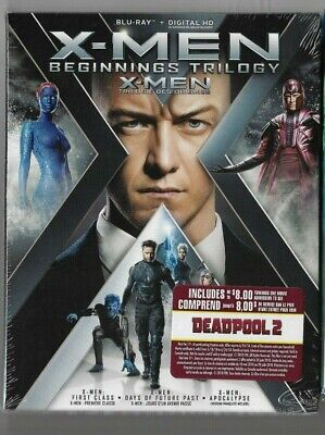 Sealed Blu-Ray + Digital HD - X-MEN Beginnings Trilogy - Also In French