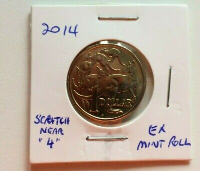 2014 MOR ,Mob of Roos  $1 coin ,one dollar coin. Ex mint roll. Reduced price .