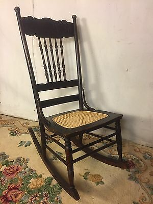 Rocking Chair Solid Oak Cane Seat.See12pix4size.VA Local pickup only Liquidation