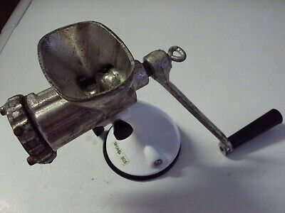 Vintage Retro Spong Mincer 805 Table Top Suction Base Made In England White