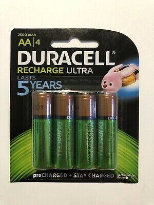 Duracell Recharge Ultra AA Batteries Brand New & Sealed (4 Batteries) 1 Pack