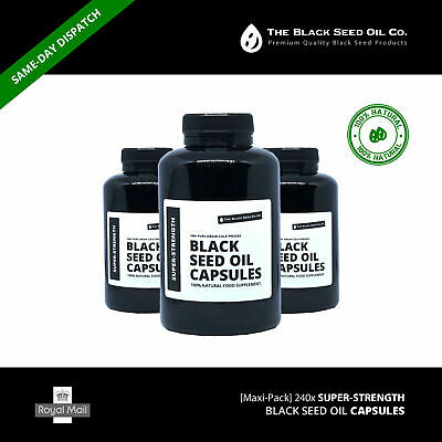 [Maxi-Pack] 240x SUPER-STRENGTH Black Seed Oil Capsules - The Black Seed Oil Co