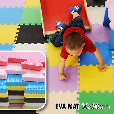 Kids Play Mat Interlocking Floor Mats Eva Soft Foam Crawling Puzzle Carpet Tiles