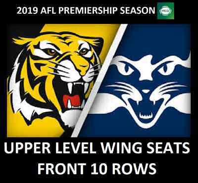 AFL Tickets   Richmond Tigers vs Geelong Cats   Upper Level Wing Reserved Seats