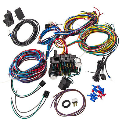 21Circuit Wiring Harness for Chevy Mopar for Ford Hot Rods Wire EZ Install AMD
