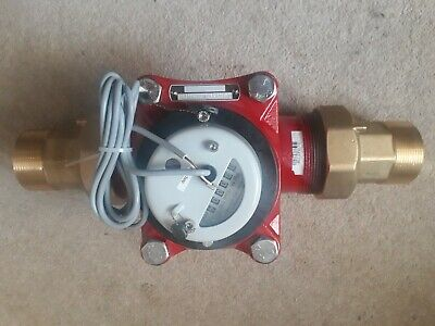 Water Flow Meter 50mm (New in Box) with fittings as picture