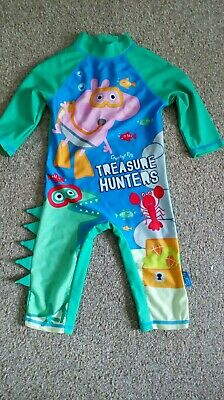 George Peppa Pig All In One Uv Sun Swim Suit 18-24 Months With Dino