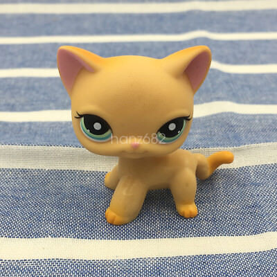 Littlest Pet Shop LPS #339 Hasbro Figures Yellow Cat Kitty Collection Toy Gift D
