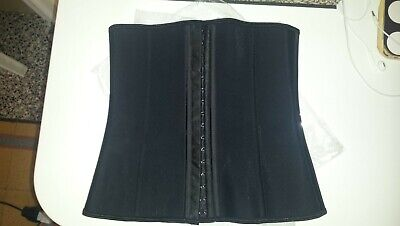 corsetto stringivita corpetto waist trainer corset latex 9 stecche steel XS