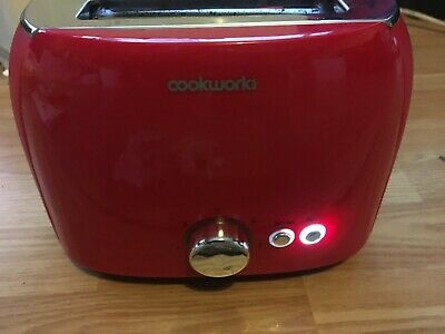 Cookworks 2 Slice Variable Width 7 Settings Toaster 1050W - Red