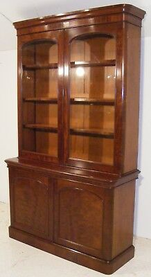 Good Quality Antique Victorian Mahogany Library Bookcase