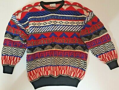 Vintage Hipster 80's Bugle Boy Co Cosby Style Sweater Size M